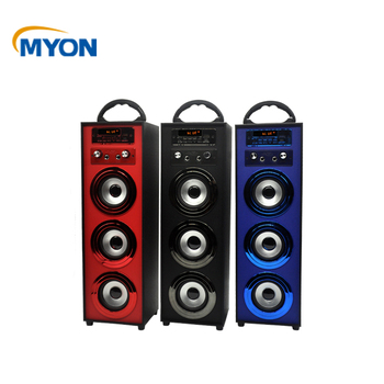 Wireless Portable FM Radio Bluetooth Subwoofer Bass Wireless Music with USB AUX TF Card Bluetooth Speaker