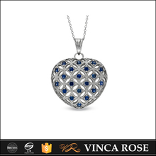 Hot sale heart shaped pendant 925 streling silver faberge egg pendant