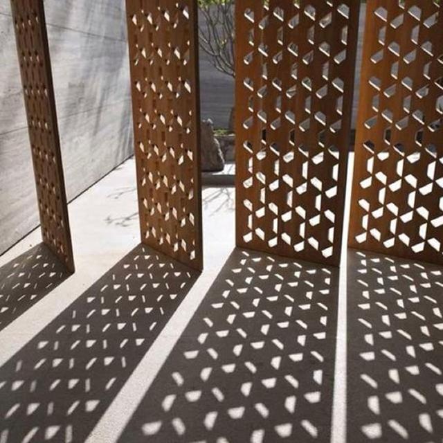 Perforated Corten Steel Plate Perforated Corten Steel