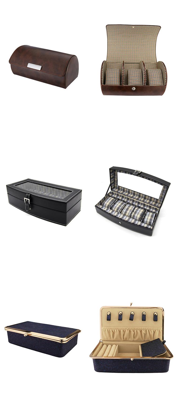 OEM 3 Slots Jewelry Organizer Box Men Watch Storage Box