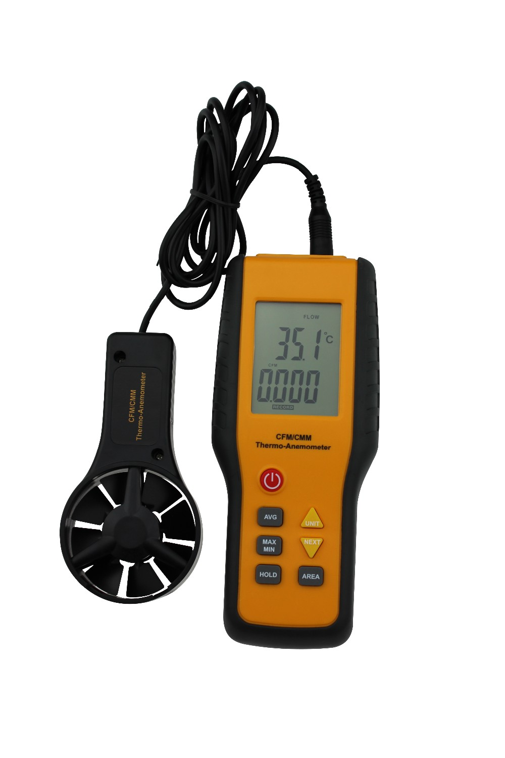 Mechanical Velocity Handheld Digital Wind Speed Industries Anemometer with Mini LCD Screen