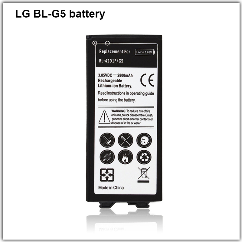 High quality Li-ion Internal <strong>Battery</strong> For LG BL-G5 Real Capacity 2800mAh Replacement Backup with Mobile <strong>Batteries</strong>