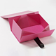 Custom logo recyclable rectangle wallet pink paper folding box