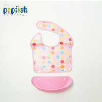 Luxury Baby Waterproof Bib With Food Pocket