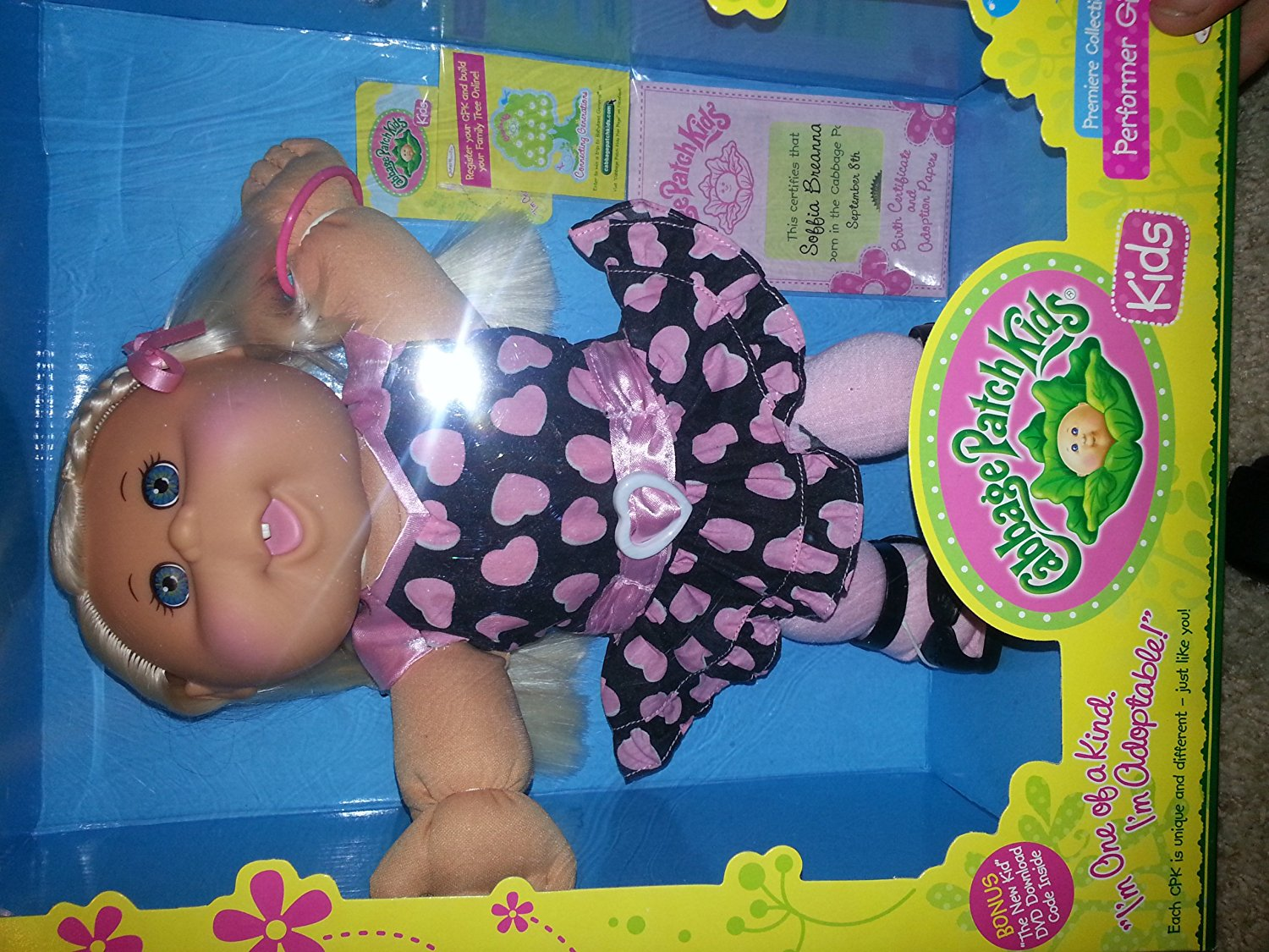 Cabbage Patch Kids Premium Collection Caucasian Blonde Performer Girl