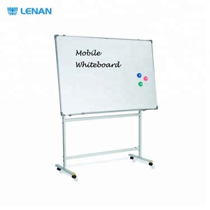 Customize Whiteboard with Stand Fit for Size Metal Reversible Mobile Flip Chart Easel Stand White Teaching Office Board