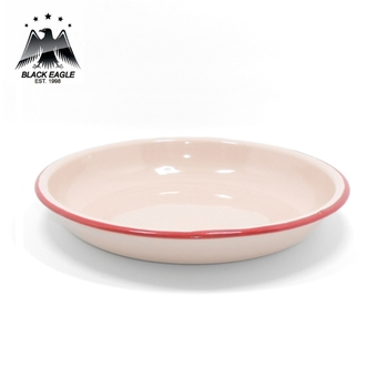 Kids safety two tone enamel camping plate