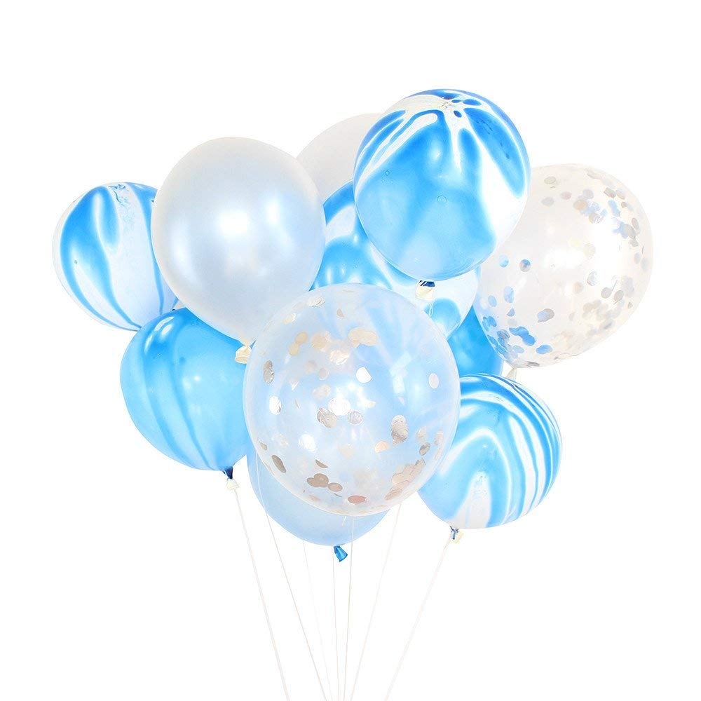 "Fenleo 20 Pcs 12"" Assorted Color Latex Party Balloons, for Weddings, Birthdays, Bridal Shower, Baby Shower, Party Decoration"