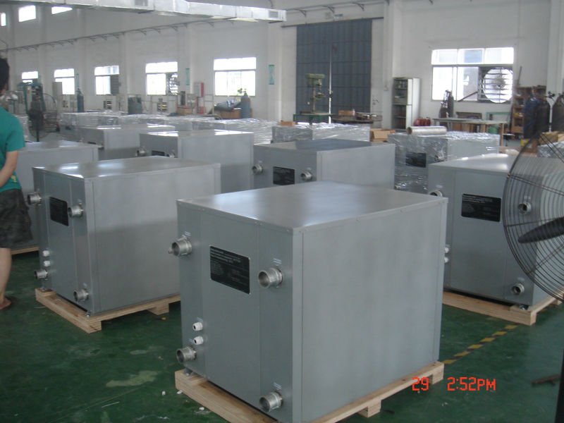 high cop geothermal heating and cooling system water source ground source heat pump water heater