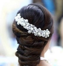 Bridal Wedding Pearl Beauty Crystal Rhinestone Hair Comb Clip Headpiece