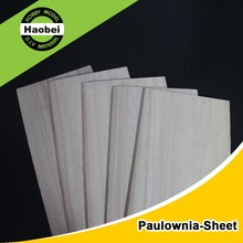 China Various dimension custom wood sheet paulownia