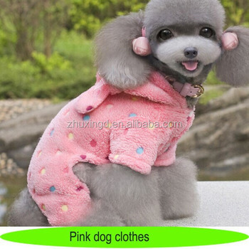 Smoothie pooch dog clothes, warm pet clothing with ears, cheap clothes for dog