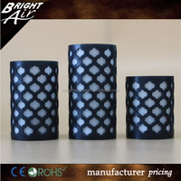 Flameless Candles - LED Battery Operated Candle Set - 3 Flickering Flame Real Wax Pillars with Remote