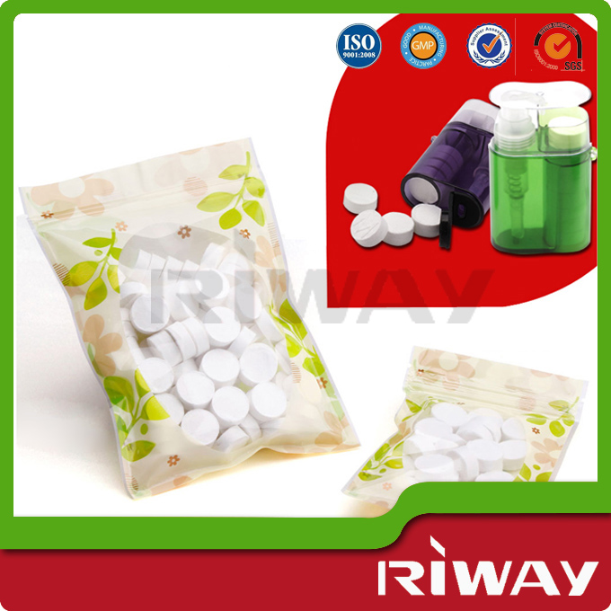 compressed cellulose nonwoven wipes/8pcs aluminum foil packed magic coin tissue/compressed napkins
