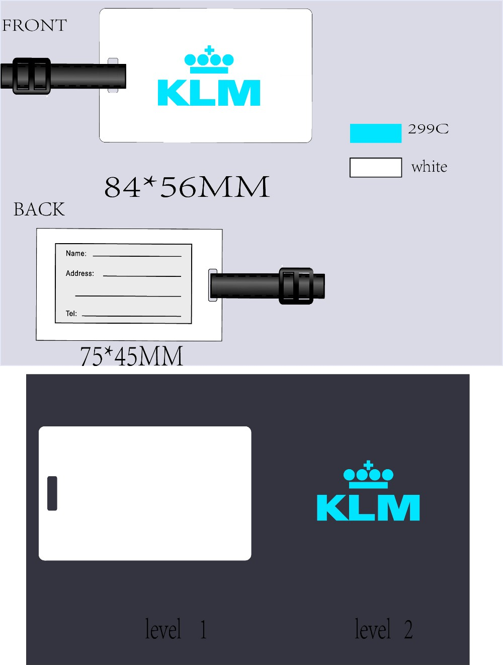 baggage tag for airlines