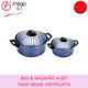 carbon steel non stick pasta pot with strainer