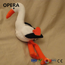 lovely design cheap softer plush material bird stork customized stuffed toys