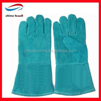 Green Welding Gloves/lime Green Leather Gloves/leather Welding ...