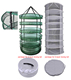 Horticulture 2ft 8 Layer Collapsible Mesh Hydroponic Drying Dry Rack Net