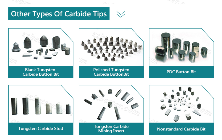 Cemented carbide tips for coal-mining tools