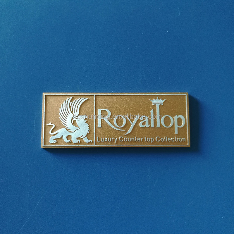 rectangular metal engraved craft collection labels