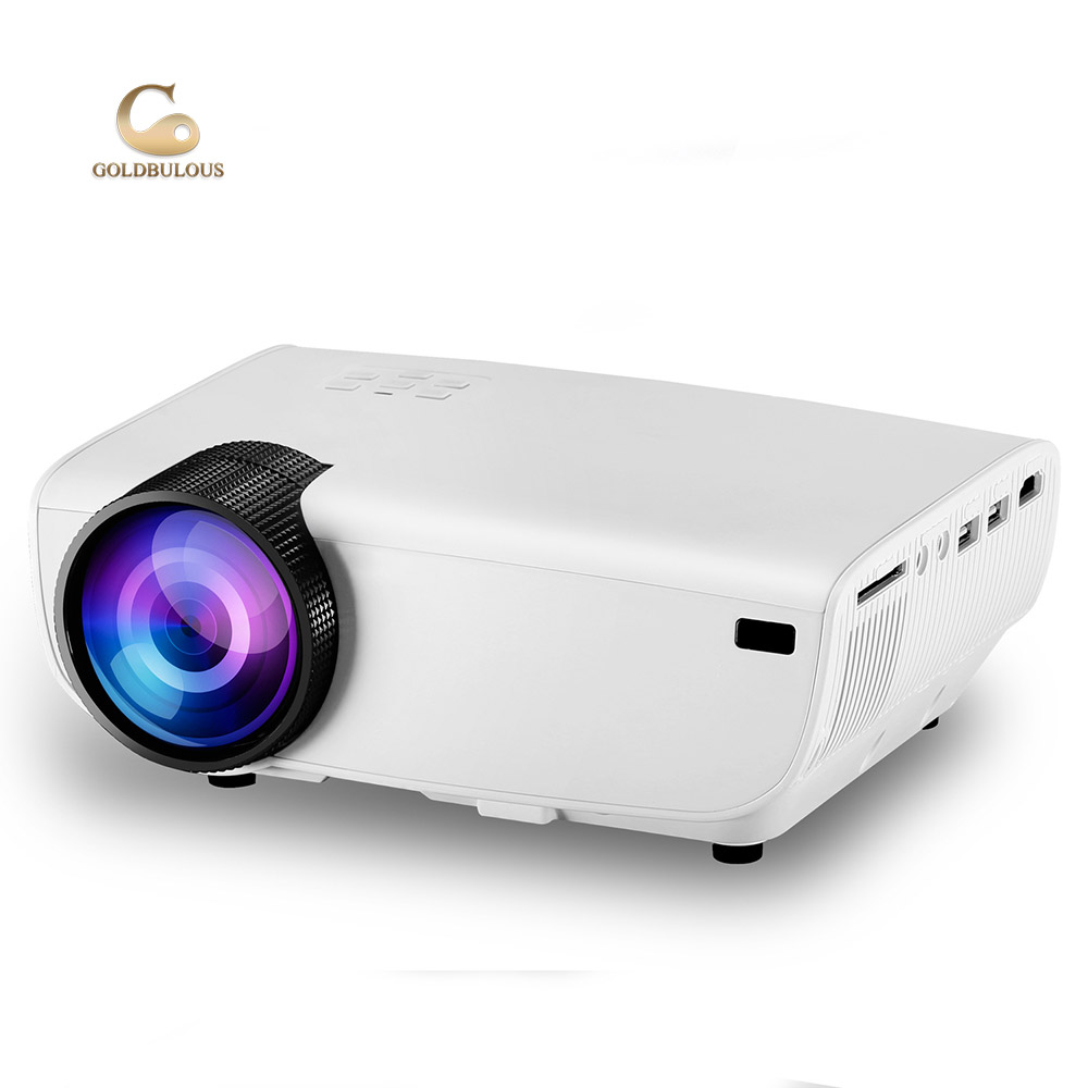 Goldbulous OEM 2200 Lumens WXGA 800*480 1080 P Ondersteuning HD SD USB AV VGA Home Theater Draagbare LED Mini Smart Video Projector