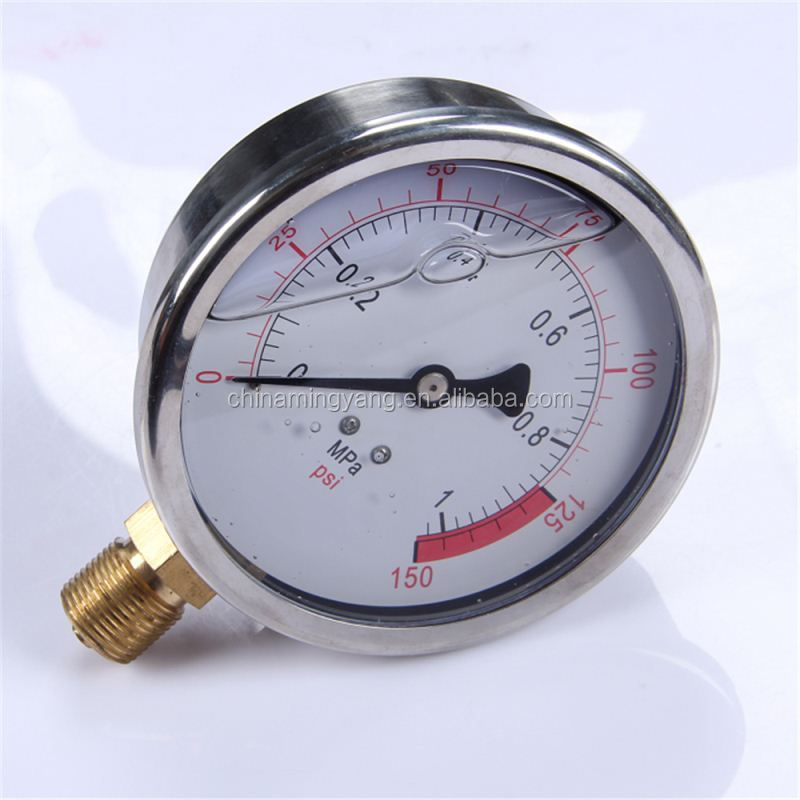 New Design Durable Light Weight Easy To Read Clear diesel engine generator 52mm oil pressure gauge/oil pressure meter
