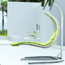 L shape outdoor garden mermaid swing rattan hanging chair ORW-1006C
