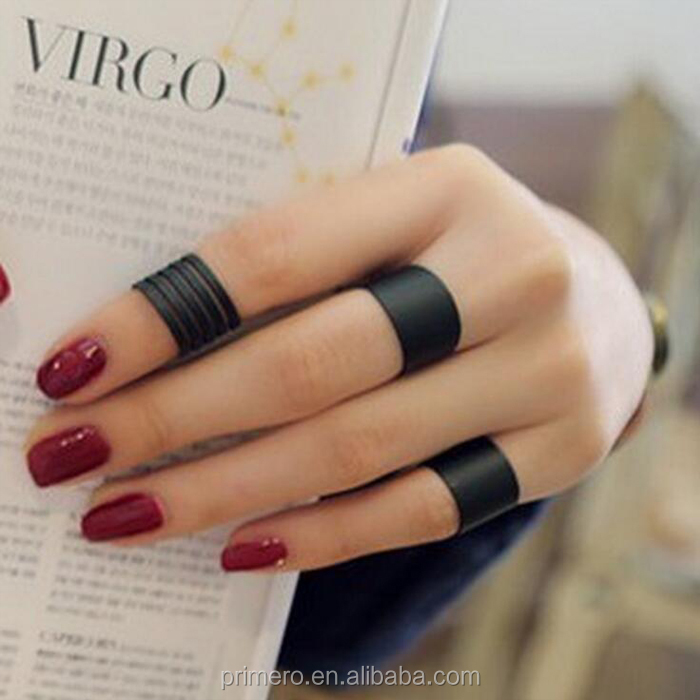 New fashion jewelry cool black finger ring set 1set=3pcs gift for women girl