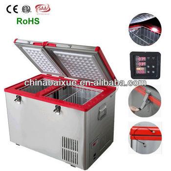 Hot High Quality Ac Dc Dual Zone Portable Car Fridge Solar Energy