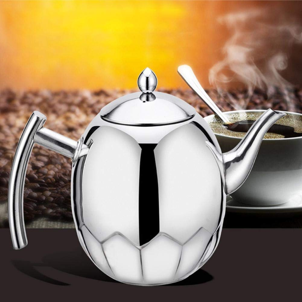 Stainless Steel Whistling Coffee Kettle 1.5L Stove Top Teapot Pot Induction Cooker Teakettle Gongfu Tea Kettle With Tea Funnel- Safe For Any Stovetop