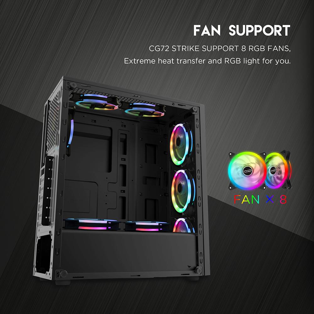 FANTECH STRIKE CG72 RGB Middle Tower Case 7