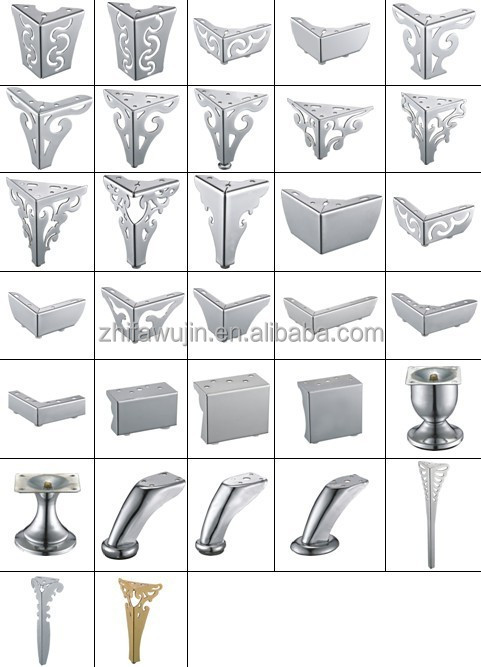 Furniture Legs Chrome hot sell acrylic furniture legs chrome metal acrylic furniture