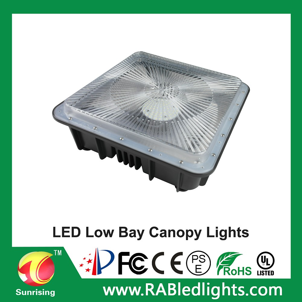 New Low Profile Canopy Light Outdoor Lamp Low Bay Canopy Lighting ...
