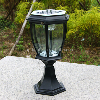 Beleuchtung Für Torsäulen Solarlichtsäule Im Freien Buy Solar