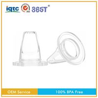 Non-toxic silicone standard flow new style transparent safety liquid baby sippy cup nipple