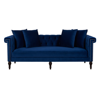 Modern Furniture Living Room Navy Blue Color Nail Head Sofa With Tufted  Buttons - Buy Sofa,Living Room Sofa,Modern Furniture Product on Alibaba com