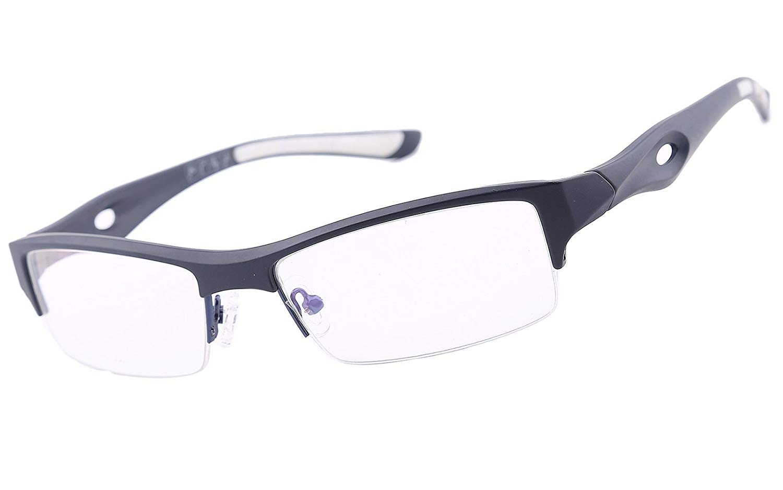 c6b85ba779 Get Quotations · Agstum TR90 Mens Womens Sports Optical Half Rim Glasses  Frames