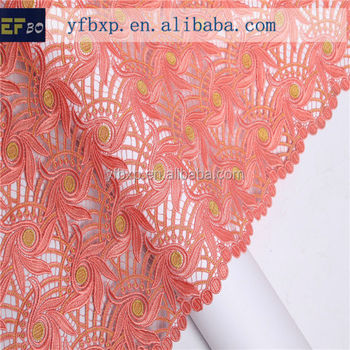 China Manufacturer Heavy High Quality African Cord Lace Fabric ...
