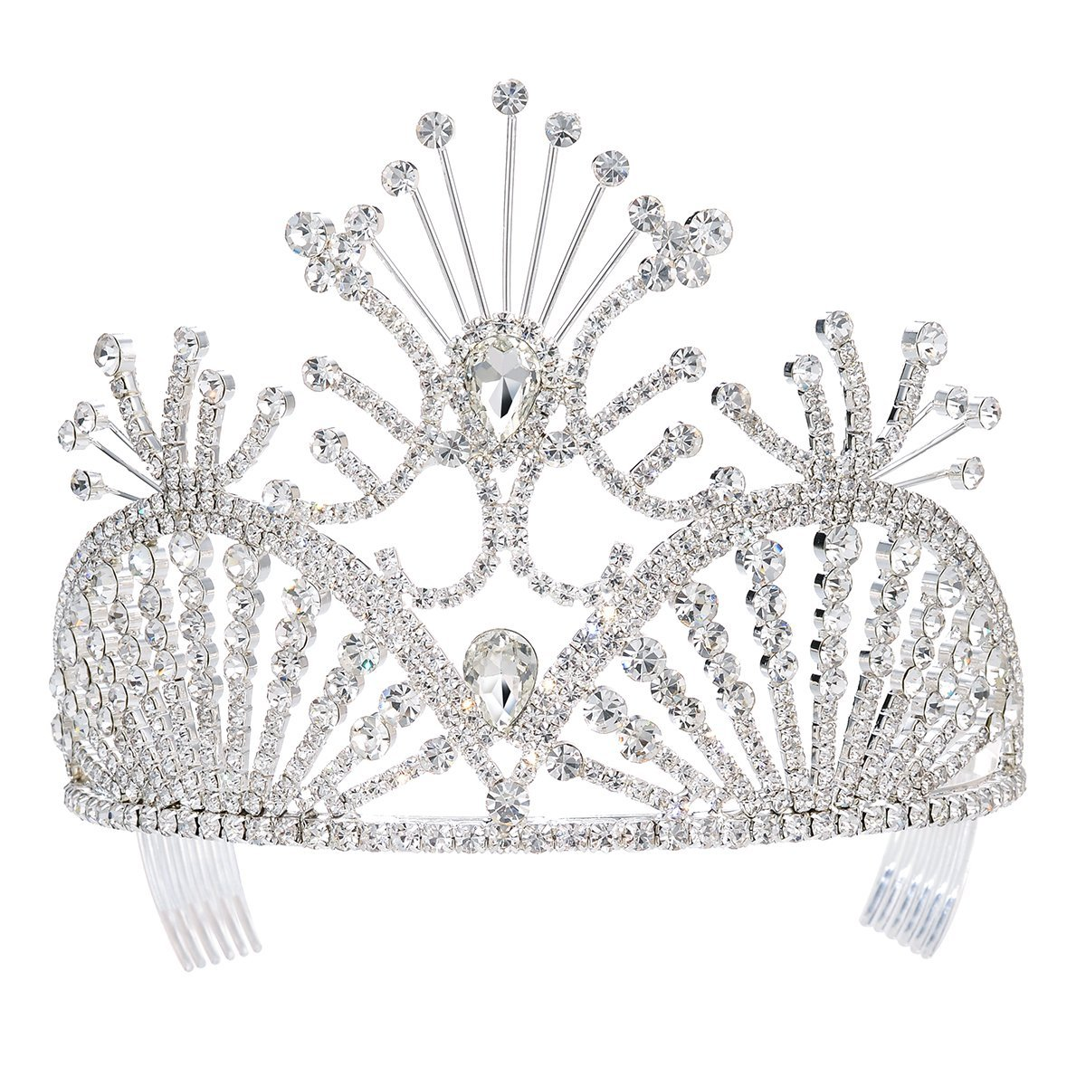 ff0ac8ffecb5 Get Quotations · DcZeRong Prom Crowns Queen Crowns Wedding Tiaras Pageant Tiaras  Bridal Crowns Women Tiara Crown