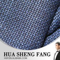 High Quality Blue 100% Raw Merino Wool Suit Fabric