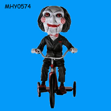 Puppet riding bike customized novelty Head Knocker