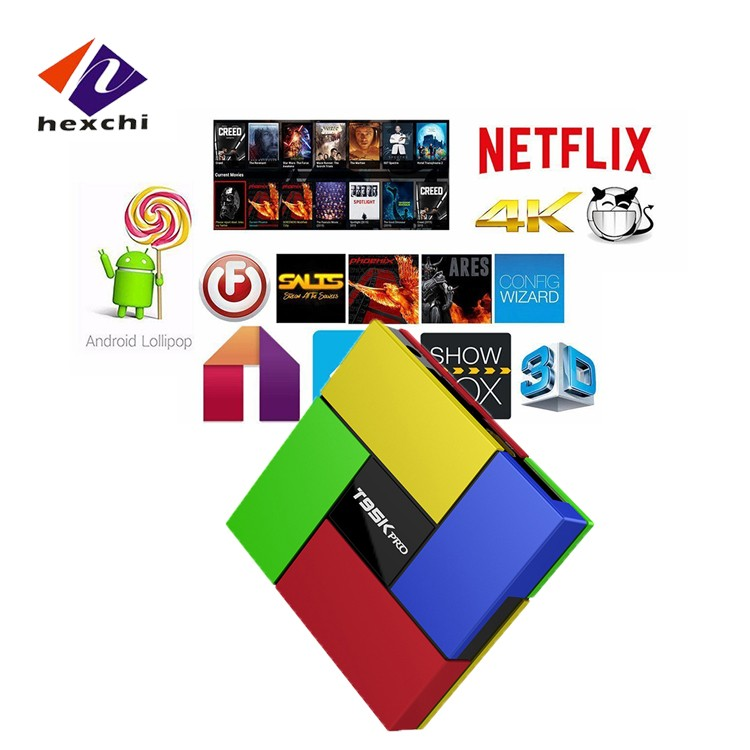 Dvb s2 android tv box T95K PRO OTT TV BOX 2g rom 16g ram 8 core 64bit groothandel android smart tv set top doos