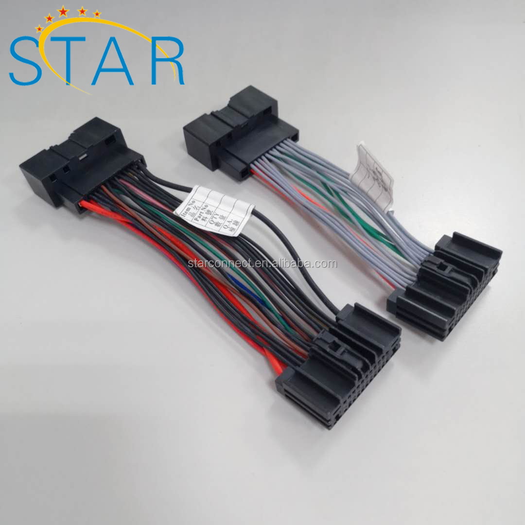 Automotive 24 Pin Male Female Iso Connector Audio Wire Harness Manufacturer  For Ford - Buy 24 Pin Ford Audio Wire Harness,Ford Iso Connector Wire  Harness,Automotive Wire Harness Manufacturer Product on Alibaba.com