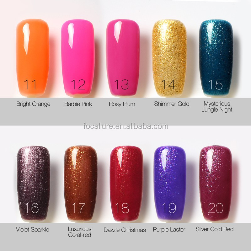 Most Popular Nail Polish Colors: Famous Brands Waterproof Bling Color Nail Gel Polish Most