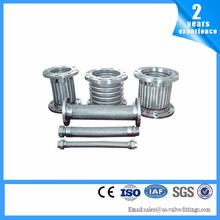 2017 hot sales Galvanized flange joint stainless steel wire braided flexible bellows metal hose pipe Flange bellows