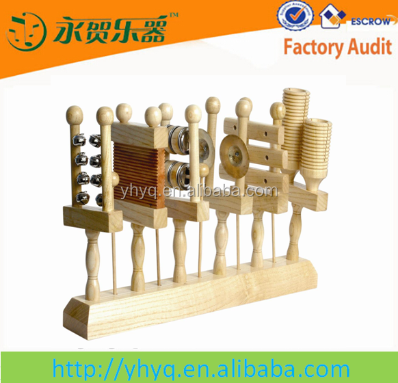 2014 new funny wooden musical toys,wooden percussion set for baby