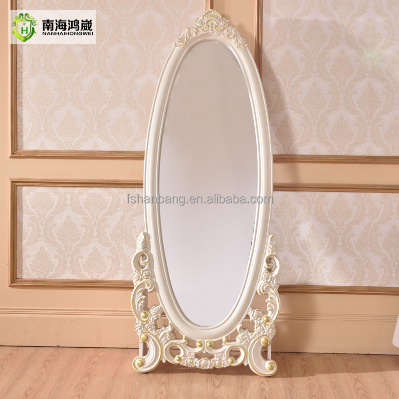 decorativa bianca ovale in argento in legno francese europeo ...