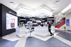 Brand cosmetics retail display wall cabinets designs for beauty salon