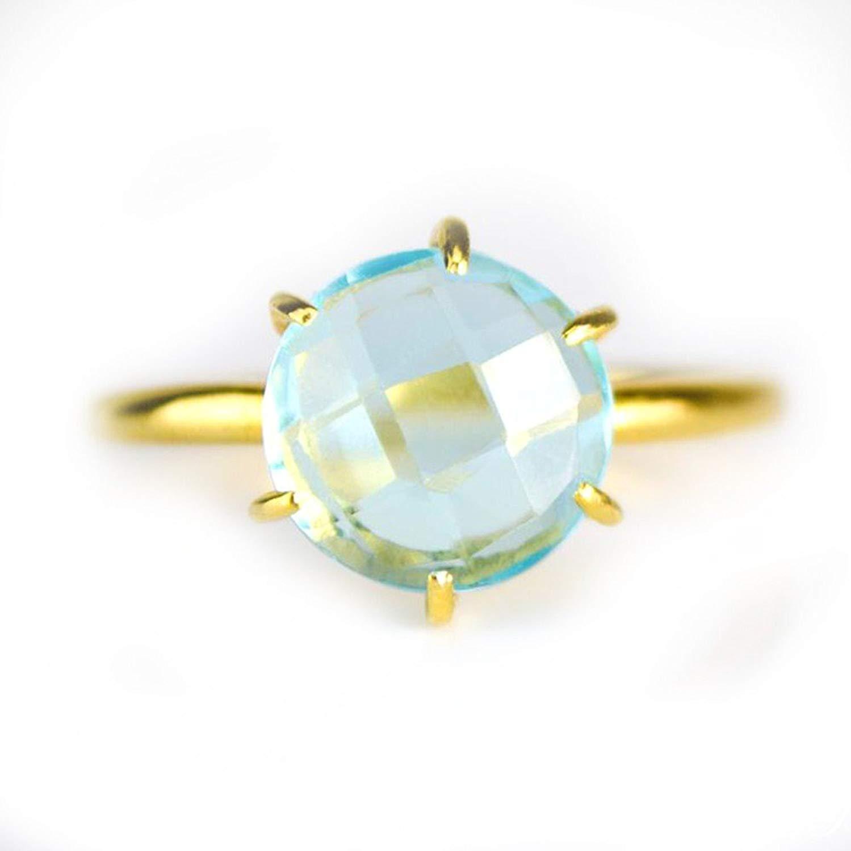 Nathis Oval Aqua Chalcedony And Blue Quartz Ring